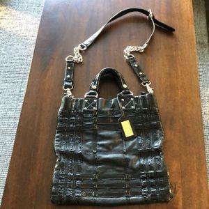 Badgley Mischka Boulevardier Caged purse black